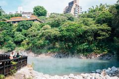 Beitou Thermal Valley hot steam in Taipei, Taiwan