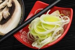Beiträge zu chinesischer Küche Stockbild