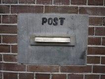 Beitrag (Briefkasten) Lizenzfreies Stockbild