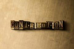 BEITRAG - Nahaufnahme des grungy Weinlese gesetzten Wortes auf Metallhintergrund stock abbildung