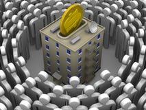 Beitrag zum Bau oder zu den größeren Reparaturen des Wohngebäudes Konzept stock abbildung