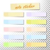 Beitrags-Anmerkungs-Aufkleber-Vektor Papierklebeband mit Schatten Klebendes Büro Lochstreifen Realistische Abbildung vektor abbildung