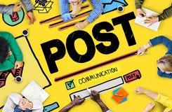 Beitrags-Blog-Social Media-Anteil-on-line-Kommunikations-Konzept Stockbild