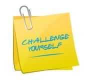 Beitrags-Mitteilungsillustration der Herausforderung sich stock abbildung