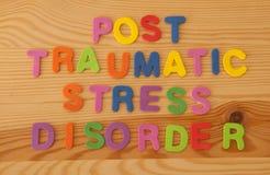 Beitrags-traumatisches Belastungssyndrom Stockfotos