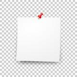 Beitragsleerer klebriger Papierblattvektor Lizenzfreies Stockfoto