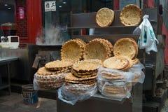 Beiyuanmen Moslimmarkt in Xian, China Royalty-vrije Stock Afbeeldingen