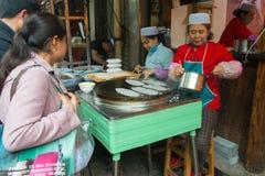 Beiyuanmen muslimsk marknad i Xian, Kina Arkivbild