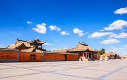 Beizi temple-One of the four great old lamasery in Inner Mongolia. It was built in AD 1743. It is located in the Xilinguole, Inner Mongolia, China Stock Photos