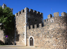 Beja Castle 3. Portugal Alentejo Region historical town of Beja, castle tower and battlements Royalty Free Stock Photo