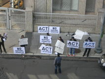beja dc ambasady protest Qatar Zdjęcia Royalty Free