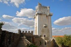 BEJA, PORTUGAL: O castelo e a torre fotografia de stock