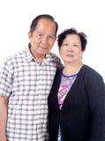 Bejaard Aziatisch Paar stock afbeeldingen