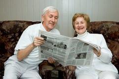 Bejaard paar Royalty-vrije Stock Afbeeldingen