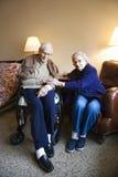 Bejaard paar. stock fotografie