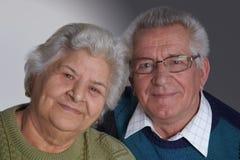 Bejaard paar Stock Foto