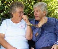 Bejaard paar, Stock Afbeeldingen