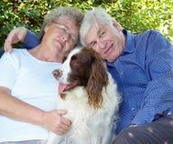 Bejaard paar, Royalty-vrije Stock Foto