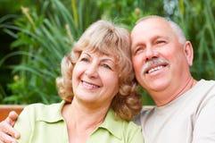 Bejaard paar in liefde Royalty-vrije Stock Foto