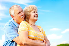 Bejaard paar in liefde Royalty-vrije Stock Foto's