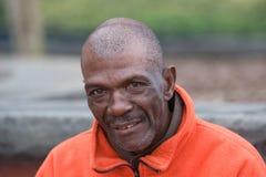 Bejaarde Afrikaanse Amerikaanse Mens Stock Fotografie