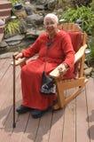 Bejaarde Afrikaanse Amerikaanse Vrouw royalty-vrije stock afbeeldingen