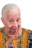 Bejaarde Afrikaanse Amerikaanse vrouw stock afbeeldingen