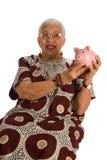 Bejaarde Afrikaanse Amerikaanse vrouw Royalty-vrije Stock Afbeelding