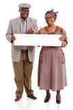 Bejaarde Afrikaanse paarbanner Royalty-vrije Stock Fotografie