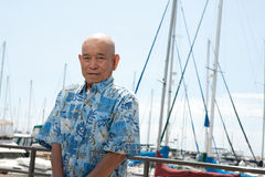 Bejaarde Aziatische mens Royalty-vrije Stock Afbeelding
