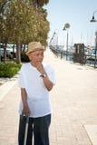 Bejaarde Aziatische mens Royalty-vrije Stock Fotografie