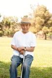 Bejaarde Aziatische mens Stock Afbeeldingen