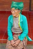 Bejaarde Balinese Vrouw Stock Afbeelding
