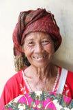Bejaarde Balinese Vrouw Stock Foto