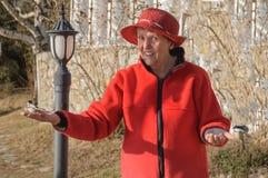 Bejaarde dame Stock Foto