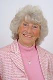 Bejaarde Dame Smiling Royalty-vrije Stock Afbeelding