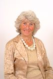 Bejaarde Dame Smiling Stock Afbeelding