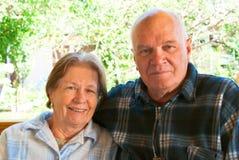 Bejaarde echtgenoot en vrouw Stock Foto