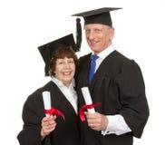 Bejaarde gediplomeerden Stock Foto's