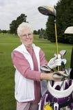 Bejaarde Golfspeler Royalty-vrije Stock Foto