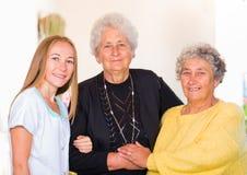 Bejaarde huiszorg Royalty-vrije Stock Afbeeldingen