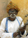Bejaarde Indische mens - Jaipur - India Stock Foto