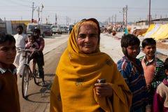 Bejaarde Indische vrouw Royalty-vrije Stock Afbeeldingen