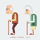 Bejaarde mensen Stock Afbeelding