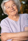 Bejaarde persoon Stock Foto