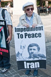 Bejaarde Protesteerder royalty-vrije stock fotografie