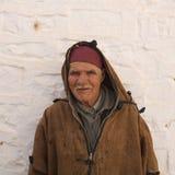 Bejaarde in Tunesië Stock Foto