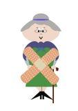 Bejaarde zieken Stock Afbeeldingen