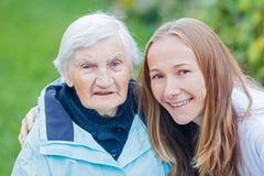 Bejaarde zorg Royalty-vrije Stock Afbeelding
