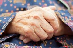 Bejaarde zorg Stock Fotografie
